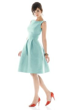 Alfred Sung Dress. Gorgeous in this color, and perfectly retro!