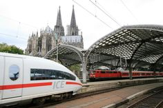 The train takes you straight into the center of Europe's cities. For example, famous cathedral in Cologne is located directly next to the train station!