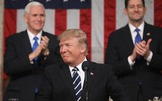 Donald Trump hails 'new chapter of American greatness'  in Congress speech - but hints at softening on immigration policy
