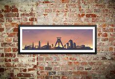 Skyline Bochum Wandtattoo Poster - Sunset (2014) | Ruhrpix Prints & Poster Shop