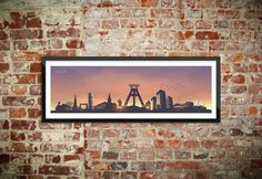 Skyline Bochum Wandtattoo Poster - Sunset (2014) | Ruhrpix Prints & Poster Shop