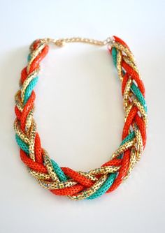 I love chunky necklaces and these colors are super cute for spring 2013