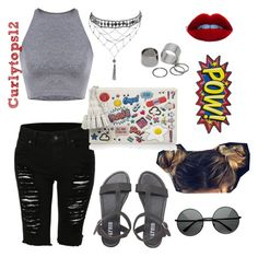 Untitled #59 by curlytops12 on Polyvore featuring polyvore fashion style Anya Hindmarch Pieces Ettika MLC Eyewear women's clothing women's fashion women female woman misses juniors