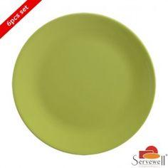 Servewell 6 Pc Urmi Side Plate Set - Green