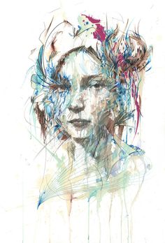 """Unveil"" by Carne Griffiths. 50 x 70cm Giclee. Ed of 33 S/N."