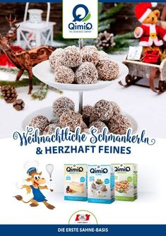 Rezepthefte - QimiQ The Cream, Place Cards, Place Card Holders, Breakfast, Food, Christmas, Simple, Morning Coffee, Essen