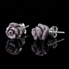 Srebrne różyczki w 10 kolorach do wyboru