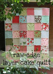 cotton rag quilt... I like this tutorial, a little different than the ones I've made!