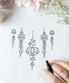 unalome lotus flower meaning Small Flower Tattoos, Flower Tattoo Designs, Small Tattoos, Small Mandala Tattoo, Temporary Tattoos, Lotus Flower Tattoo Wrist, Flower Tattoo Meanings, Yoga Tattoos, Body Art Tattoos