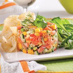 Salmon tartare mango and avocado- Tartare de saumon mangue et avocat Salmon tartare mango and avocado - Easy Salmon Recipes, Mango Recipes, Raw Food Recipes, Meat Recipes, Summer Recipes, Cooking Recipes, Healthy Recipes, Easter Recipes, Recipes Dinner