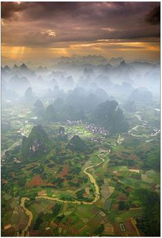 Yangshuo, China. Been there once, and I will need to go back again...such an amazing place!