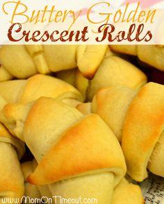 Buttery Golden Crescent Rolls