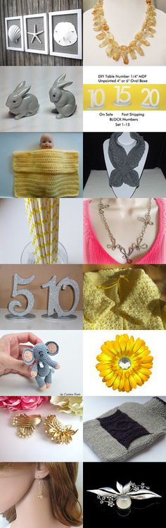 Sweet 16 Treasury FRU Team Yellow And Gray Gifts by SiriusFun on Etsy--Pinned+with+TreasuryPin.com