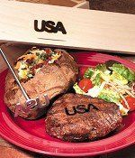 "Texas Irons USA Gift Box Set by Texas Irons. $49.95. Branding Tool. Hand Wash. Ideal for Tailgating, Grill-Top Cooking, Outdoor Cooking. Creates a Charred Design. 14 x 4 x 4 "". USA Gift Box Set. Show your American pride. Perfect for the 4th of July cookouts."