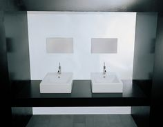 Art Ceram Fuori Box 50 countertop basin with taphole