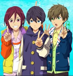 rin, haru, and makoto
