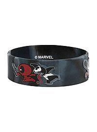 HOTTOPIC.COM - Marvel Deadpool & Venom Chibi Rubber Bracelet