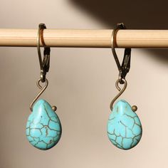 Hey, I found this really awesome Etsy listing at https://www.etsy.com/listing/203815523/turquoise-earrings-drop-earrings-dangle
