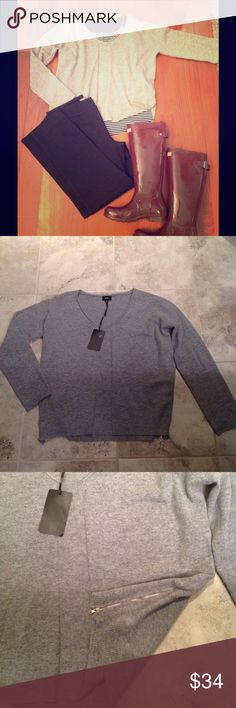 Fate side-zip sweater, stitch fix Grey side zip sweater, perfect for layering. Size XL but fits more like a large. Never worn, still has tags. fate Sweaters