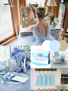 winter wedding color trends: hot ice blue silver white winter wedding colors ideas