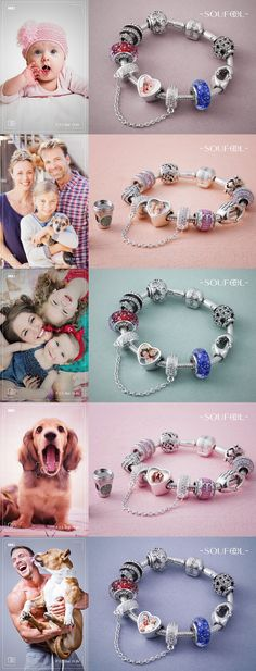 Personalize every moment with Soufeel's customized and personalized charms, you can also engrave some words on its back. Engravable Photo Charm/20.00$.