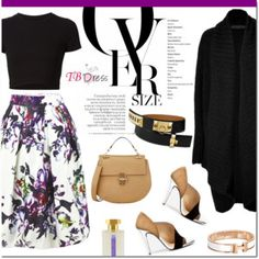 Floral skirt for fall