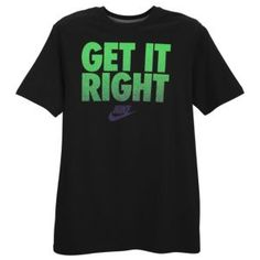 Nike Get It Right Short Sleeve T-Shirt - Men's - Black