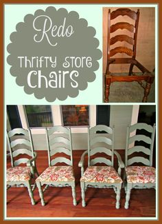 Recover Chairs- DIY tips for taking thriftstore chairs and making something new and fabulous that fits your home!