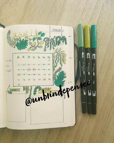 Bullet journal Bujo planner Planner addict Tropical Doodle