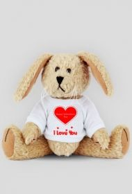 Królik- I love you I Love You, My Love, Teddy Bear, Animals, Spa, Te Amo, Animales, Je T'aime, Animaux