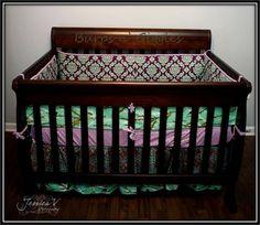 Avairy Lilac custom crib baby bedding