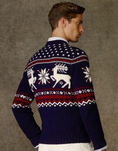 a6e475a4f Ralph Lauren Polo Reindeer Intarsia Sweater Nordic Sweater