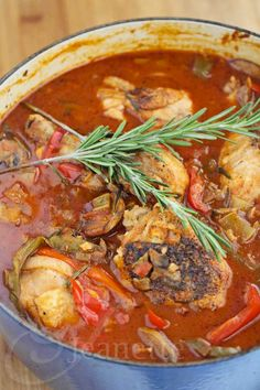 Oven Braised Chicken Cacciatore with Rosemary Recipe - Jeanette's Healthy Living