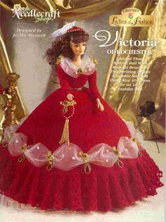 Barbie Crochet: Victoria Of Rochester - Pattern: http://knits4kids.com/collection-en/library/album-view?aid=10707