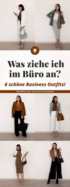 What do I wear in the office? 6 business outfits for every day! - contains unsolicited advertising. What to wear in the office, office outfits, business looks, busin - Fashion Business, Business Chic, Business Look, Office Fashion, Casual Chic Outfits, Business Casual Outfits, Business Dresses, Office Outfits, Mode Outfits