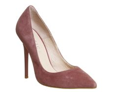 Blush Kid Suede Office Onto Point Court - Office UK £68