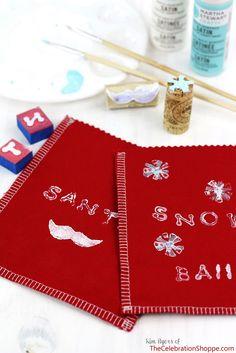 How to make Santa Stache Goodie Bags   TheCelebrationShoppe.com