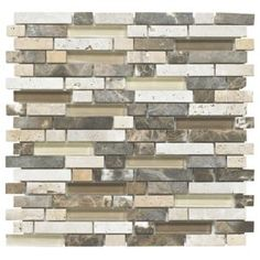 #Colours Stone  Glass Emperador Mosaic Wall Tile #Stone and Glass Emperador Mosaic Wall Tile (L)300mm (W)308mm.This wall tile. (Barcode EAN=5397007009361)