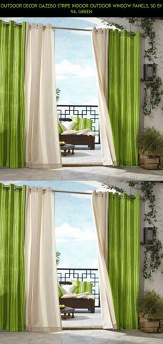 Outdoor decor Gazebo Stripe Indoor Outdoor Window Panels, 50 by 96, Green #fpv #camera #technology #gadgets #products #stripe #parts #tech #gazebo #decor #racing #plans #drone #outdoor #kit #shopping