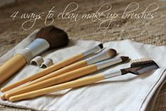 Cleaning make-up brushes.