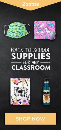 Shop Zazzle for all your back-to-school supplies for any type of classroom. From notebooks and mousepads, to face masks and water bottles, choose from thousands of fun designs for all ages - or create your own! School Items, Back To School Supplies, Cool Designs, Classroom, Squad