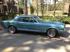 My 1966 Ford Mustang. Tahoe Turquoise.