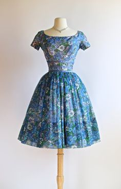 Vintage 1950s Gigi Young Floral Party Dress  by xtabayvintage