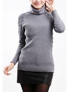 Lace Sleeve Wool Sweater