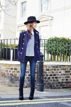 Natalie Merrillyn looking super duper cool in her classic outfit // J Crew coat love <3