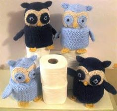 crochet owl toilet paper cover - Bing Images