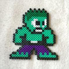 Hulk hama beads by l_mzki_creations