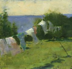 I love laundry paintings- this one is by Jon Redmond.