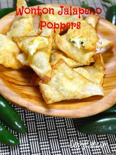 Wonton Jalapeno Poppers are a fun Asian inspired jalapeno popper. These have cream cheese, Cheddar cheese, fresh jalapenos and wonton wrappers.