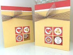 cardmaking video tutorial: Simply Simple FLASH CARD 2.0 - Four Square Card by Connie Stewart ... luv how she did her inchie four square ...
